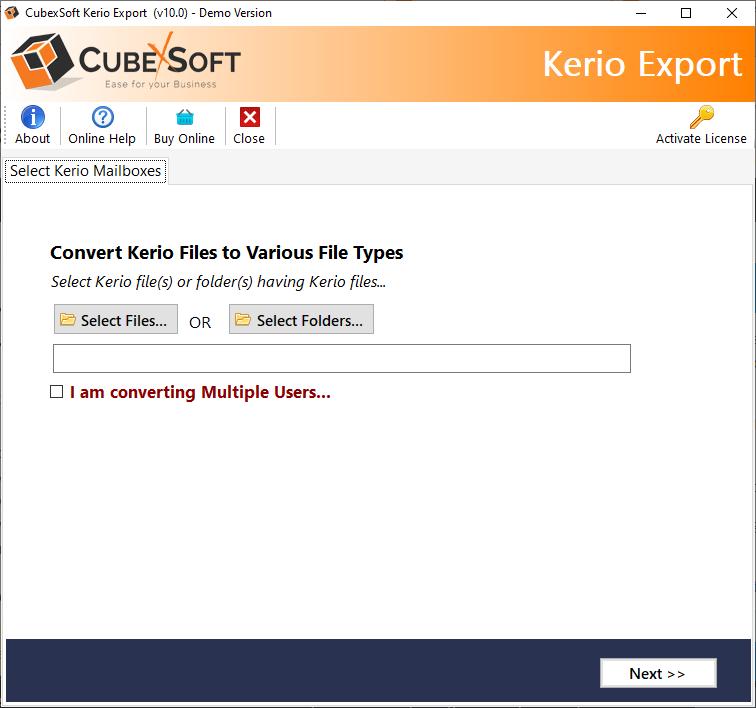 Kerio Mail Server Backup
